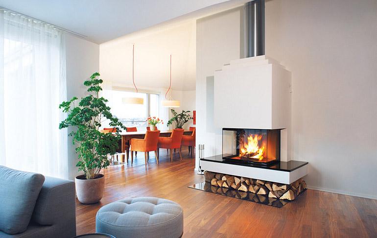 美式风格,仿真电壁炉与客厅如何结合?